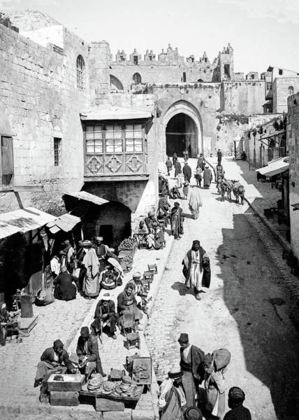 Damascus Photograph - Damascus Gate by Munir Alawi