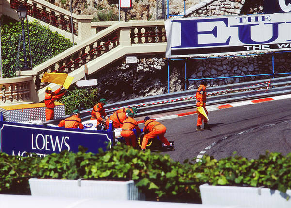Photograph - Damon Hill Spin In Practice Session by John Bowers