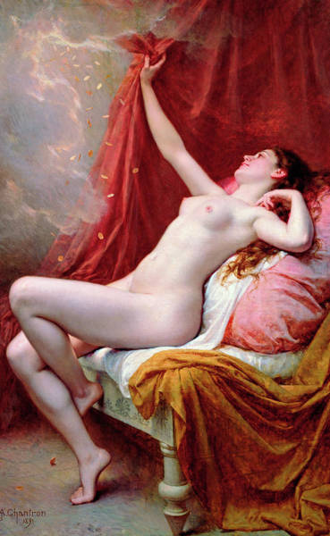 Classical Mythology Painting - Danae by Alexandre Jacques Chantron