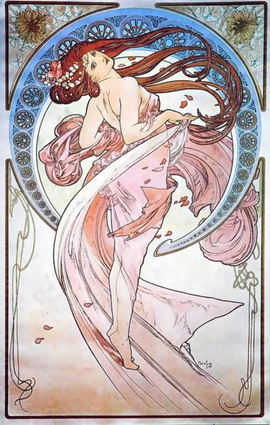 Painting - Dance by Alphonse Mucha