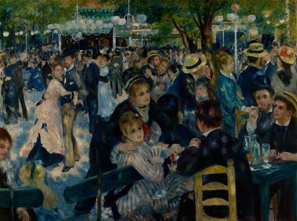 Renoir Wall Art - Painting - Dance At Le Moulin De La Galette  by Auguste Renoir