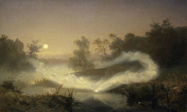 Swedish Painters Wall Art - Painting - Dancing Fairies by August Malmstrom