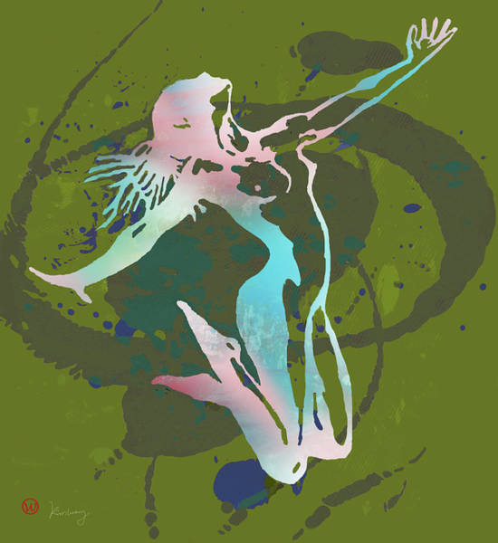 Wall Art - Mixed Media - Dancing Nude - Pop Art Poster  by Kim Wang