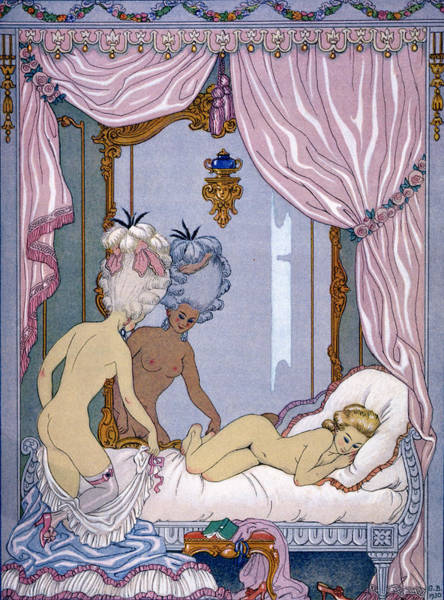 Making Love Wall Art - Painting - Dangerous Liaisons by Georges Barbier