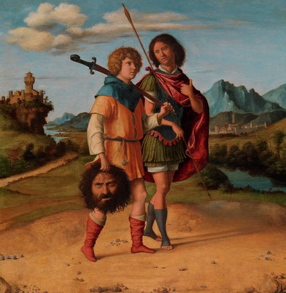 Beheaded Wall Art - Painting - David And Jonathan by Giovanni Battista Cima da Conegliano