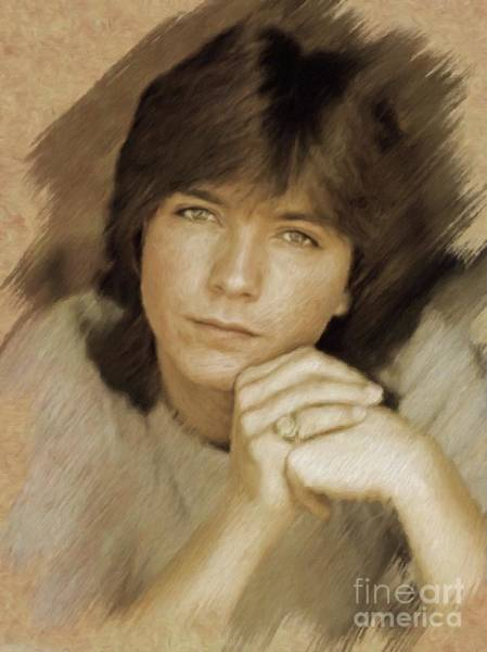 Screen Painting - David Cassidy, Actor by Mary Bassett