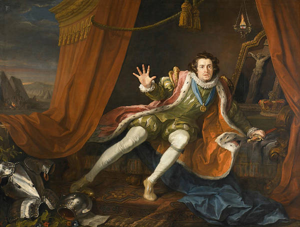 Painting - David Garrick As Richard IIi by William Hogarth