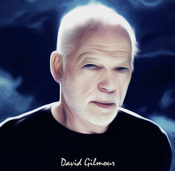 David Gilmour Painting - David Gilmour By Nixo by Never Say Never