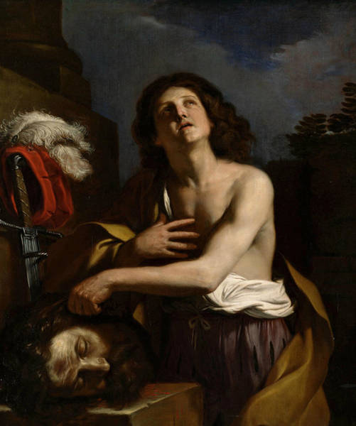 Goliath Photograph - David With The Head Of Goliath by Guercino