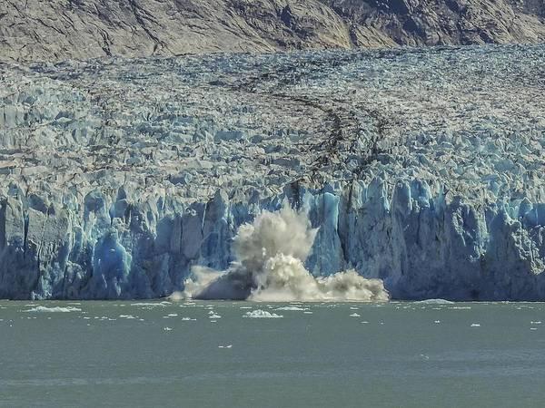 Photograph - Dawes Glacier Calving #1 by NaturesPix