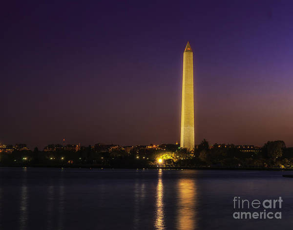 Photograph - Dawn At The Washington Monument by Nick Zelinsky