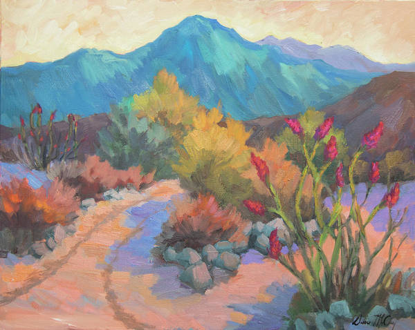 Ocotillo Wall Art - Painting - Dawn In La Quinta Cove by Diane McClary
