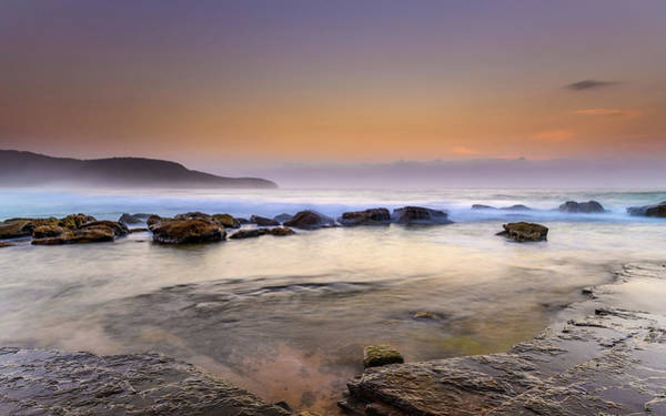 Killcare Photograph - Dawn Seascape With Rocks by Merrillie Redden