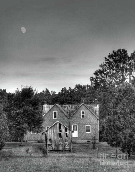 Photograph - Day Moon by Pete Hellmann