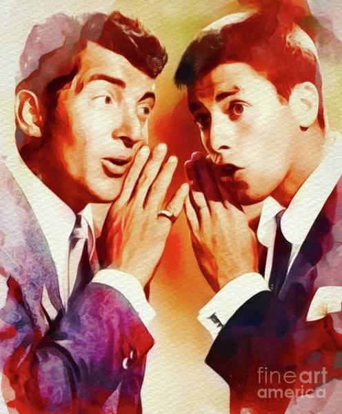 Wall Art - Painting - Dean Martin And Jerry Lewis by John Springfield