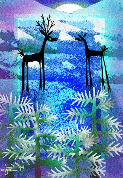 Painting - Dear Deer by Angela Treat Lyon