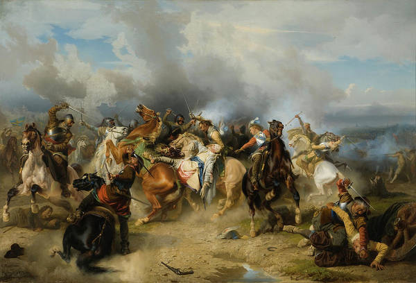 Wall Art - Painting - Death Of King Gustav II Adolf Of Sweden At The Battle Of Lutzen by Carl Wahlbom