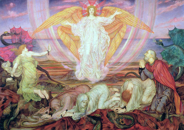 Wall Art - Painting - Death Of The Dragon by Evelyn De Morgan