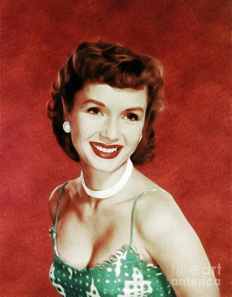Wall Art - Painting - Debbie Reynolds, Actress by John Springfield