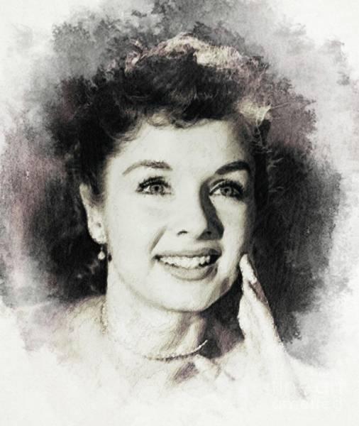 Wall Art - Digital Art - Debbie Reynolds, Vintage Actress by John Springfield
