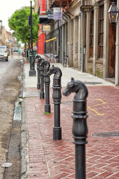 Photograph - Decatur Street Hitching Post by Victor Culpepper
