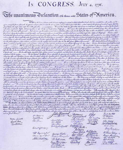 Declaration Of Independence Digital Art - Declaration Of Independence 1776 by Daniel Hagerman