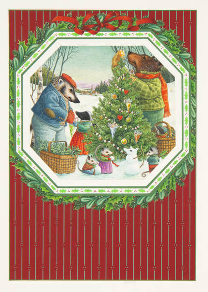 Painting - Decorating The Tree by Lynn Bywaters