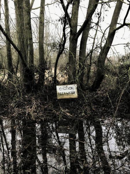 Wall Art - Photograph - Deep Water Sign by Tom Gowanlock