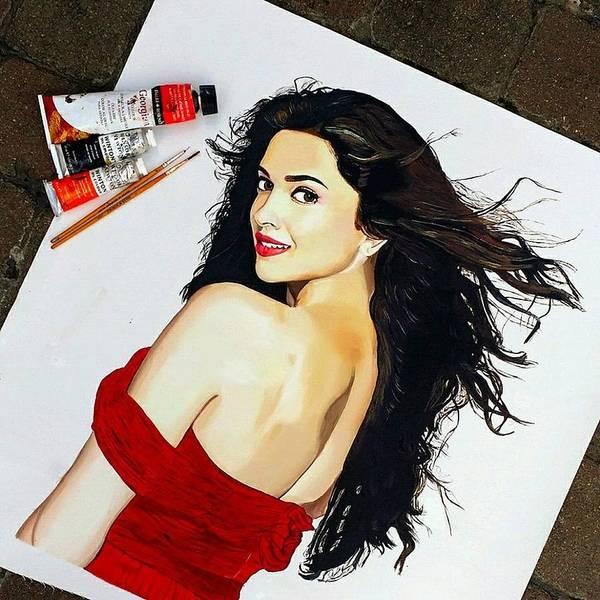 Bollywood Wall Art - Painting - Deepika Padukone  by Gitanjali  Sood