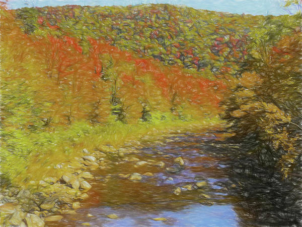 Digital Art - Deerfield Rver With Fall Colors. by Rusty R Smith
