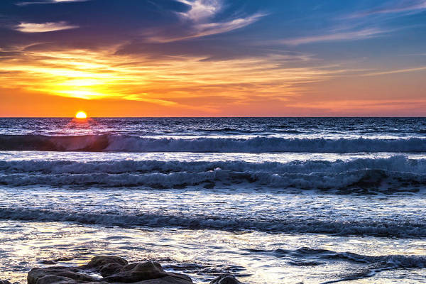 Sunset - Del Mar, California View 1 Art Print