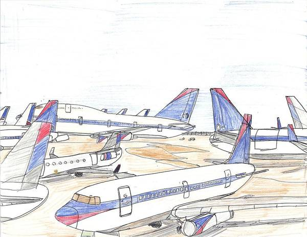 Delta Airplane Graveyard Art Print