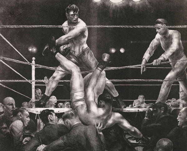 Boxing Painting - Dempsey And Firpo by George Bellows