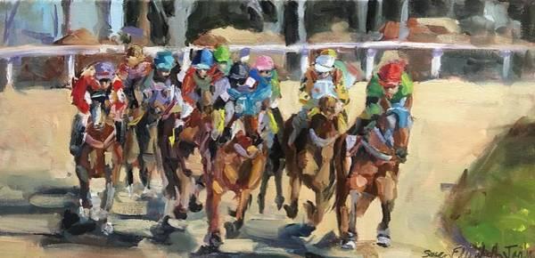 Wall Art - Painting - Derby Day by Susan Elizabeth Jones