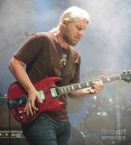 Allman Brothers Band Photograph - Derek Trucks With The Allman Brothers Band by David Oppenheimer