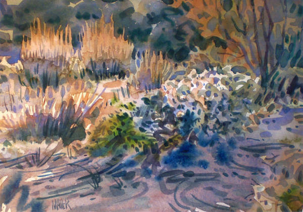 Weeds Painting - Desert Flora by Donald Maier