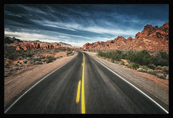 Valley Of Fire Photograph - Desert Highway by Robert Fawcett