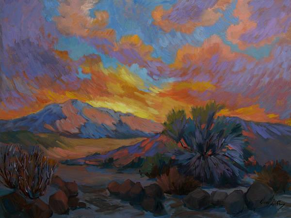Wall Art - Painting - Desert Sunrise by Diane McClary