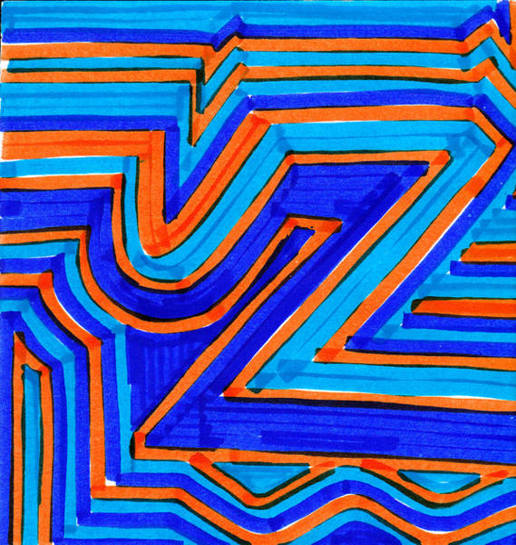 Angle Drawing - Design 4 by Jame Hayes