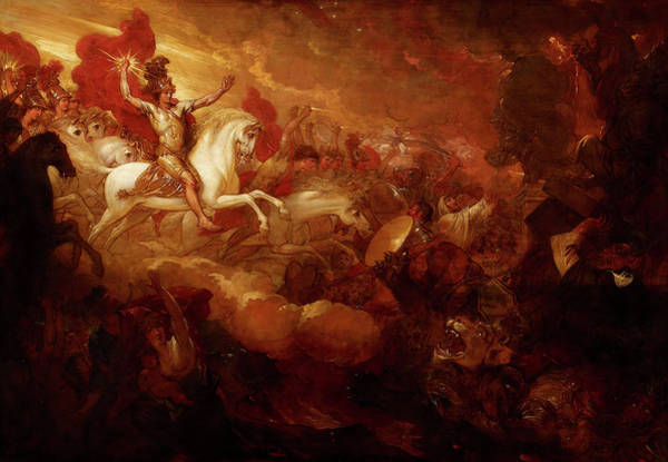 God Of War Wall Art - Painting - Destruction Of The Beast And The False Prophet by Benjamin West
