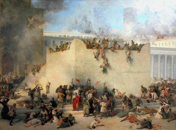 Photograph - Destruction Of The Temple Of Jerusalem by Francesco Hayez