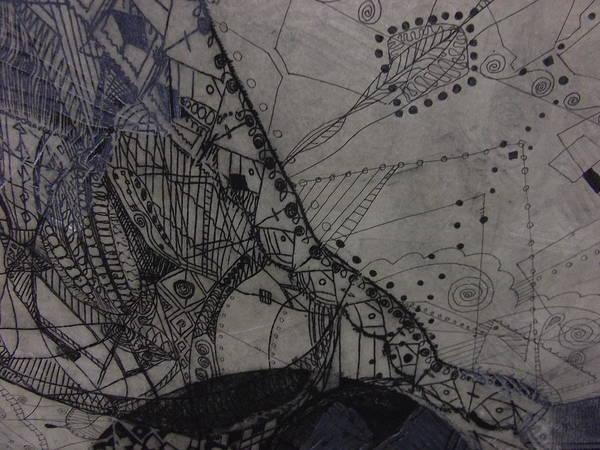 Linoleum Mixed Media - ''detail'' by Edina Besic