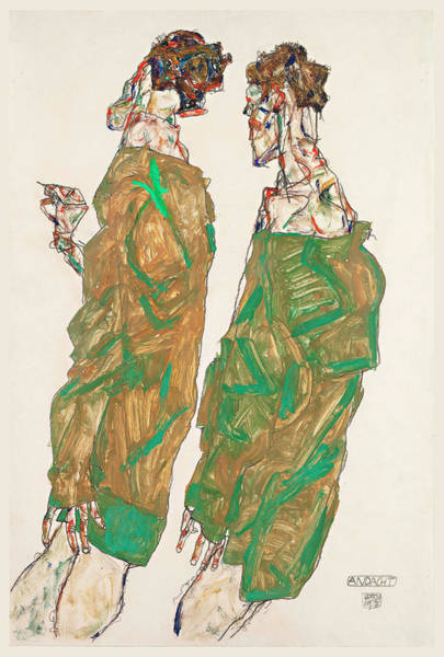 Devotion Wall Art - Painting - Devotion by Egon Schiele