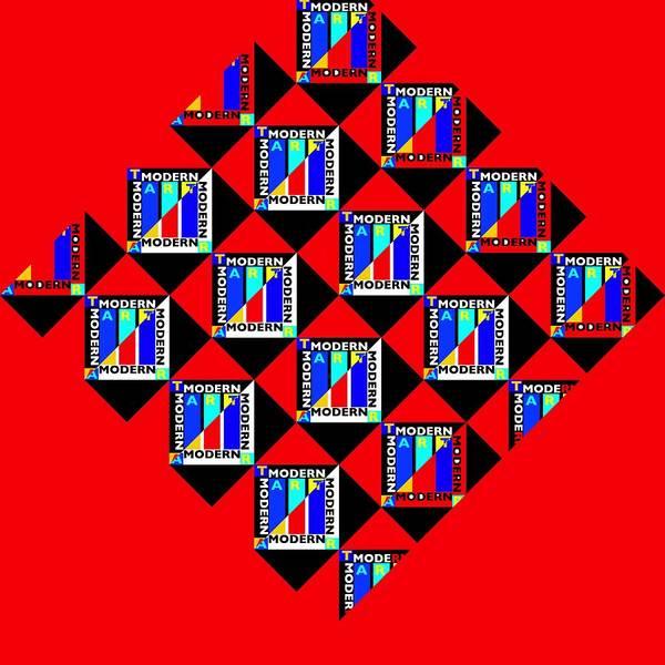 Typo Painting - Diamond Red by Charles Stuart