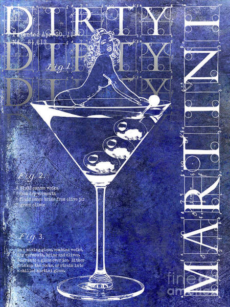Wall Art - Photograph - Dirty Dirty Martini Patent Blue by Jon Neidert