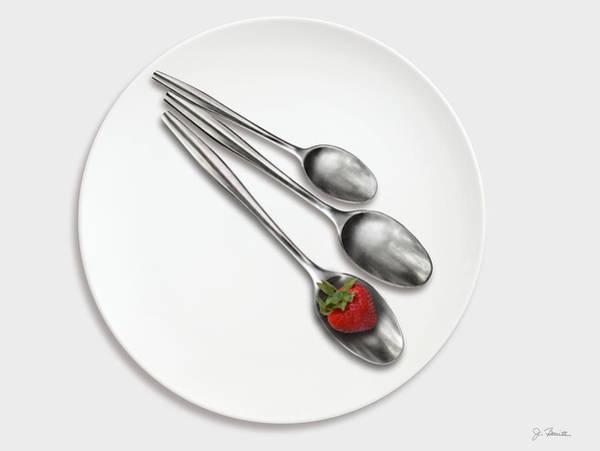 Wall Art - Photograph - Dish, Spoons And Strawberry by Joe Bonita