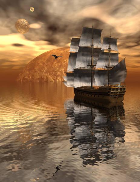Bryce Digital Art - Distant Voyage 2 by Claude McCoy