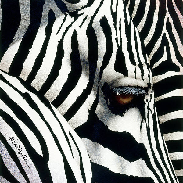 Painting - Do Zebras Dream In Color? by Will Bullas
