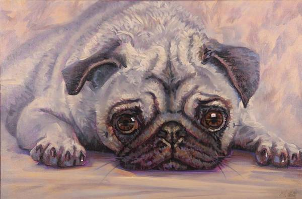 Painting - Pug by Gary M Long