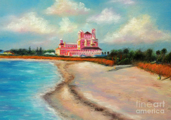 Wall Art - Pastel - Don Cesar Hotel by Gabriela Valencia